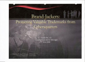 Brand Jackers: Protecting Valuable Trademarks from Cybersquatters by Susan Pai