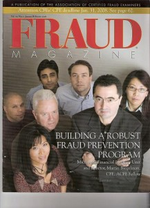 Fraud Magazine cover with Susan Pai