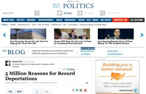 Susan Pai's immigration advocacy blog featured on front page of Huffington Post blog