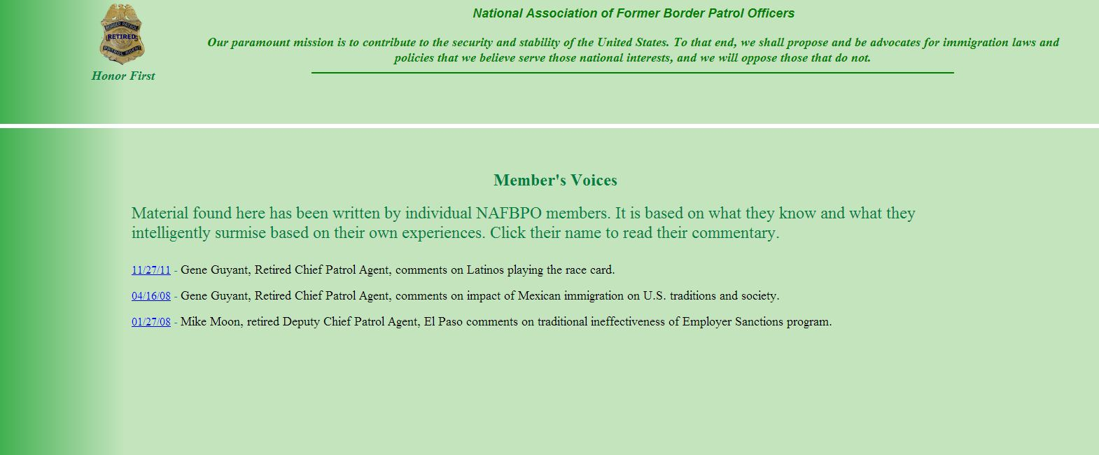 nafbo members voices